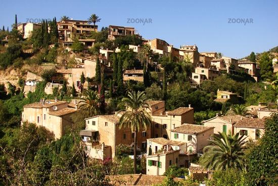The mountain village Deia at Mallorca