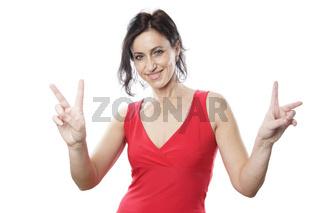 Peace oder Victory Handzeichen