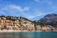 French Riviera Coastline in Menton