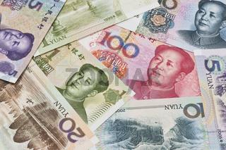 Chinesische Yuan Banknoten   Chinese Yuan bills