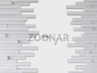 3d rendering image of white wooden wall