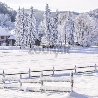 Verschneite Winterlandschaft auf der Schwäbischen Alb