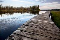 Sunrise Northern Lake Dock