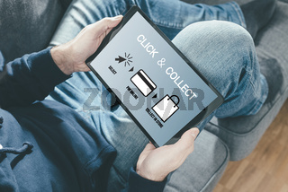 online shopping using a click and collect service
