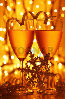 Romantic holiday celebration