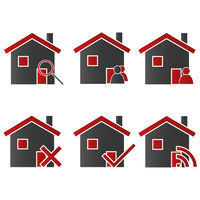 Homes with Icons Red 2