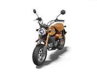 3d rendering brown motorcycle isolated on white background with shadow