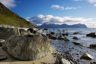 Rocky beach on Lofoten