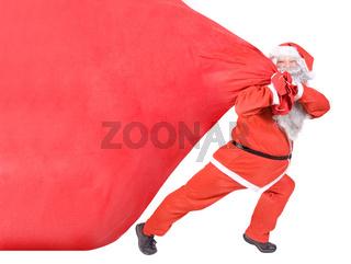 Santa Claus with a big bag