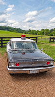 Beautiful classic police car at Leipers Fork in Tennessee - LEIPERS FORK, USA - JUNE 18, 2019