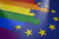 Puzzle LGBT and EU
