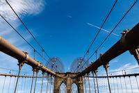 Low angle view of Brooklyn Bridge in New York