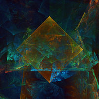 Abstract fractal background, geometric colorful shapes and patterns