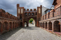 Dammtor city gate. Remains of the fortress wall. Juterbog. Germany.