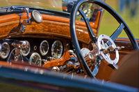 Car dashboard and wheel