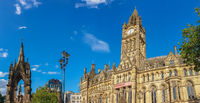 Manchester Town Hall on a beautiful summer day