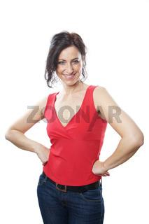 reife Frau posiert