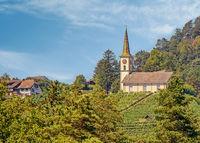 Evangelical Church Buchberg-Rüdlingen, Canton of Schaffhausen, Switzerland