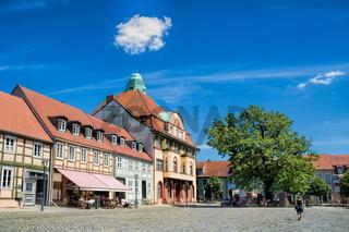kyritz, deutschland - 03.06.2020 - marktplatz in der altstadt