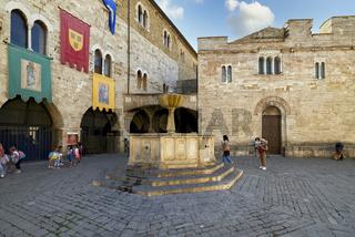 Bevagna Umbria Italy. San Silvestro square