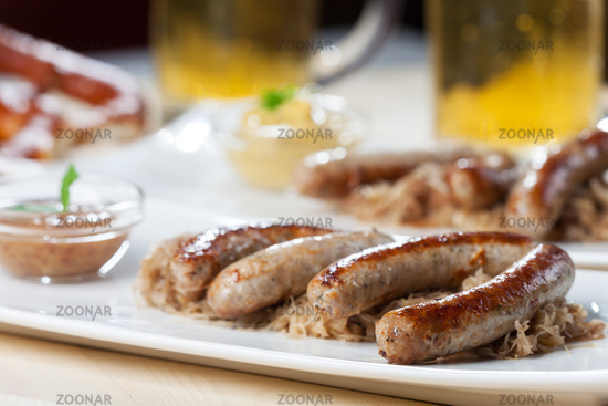 typical bavarian snack called