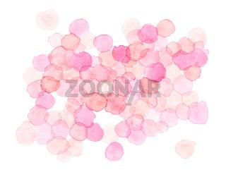 Watercolor Polka Dots Pattern
