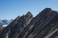 Rock layers of a mountain in Tyrol