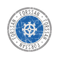 Forssan city postal rubber stamp