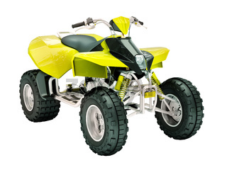 Quad bike isolated