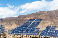 solar power station on Tibet plateau