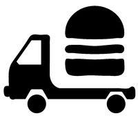 Car Hamburger Delivery Symbol