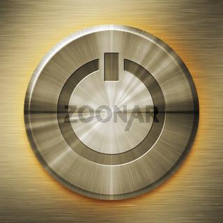 golden start button