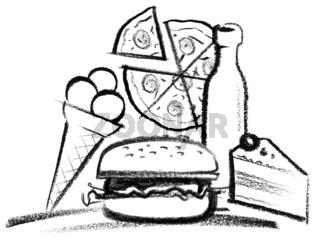 fastfood illustration