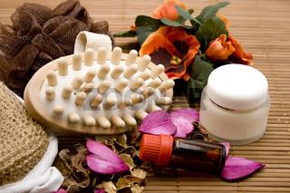 Massagebuerste mit Creme