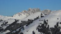 Gastlosen, snow covered mountain range near Zweisimmen.