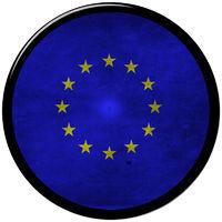 european metallic button