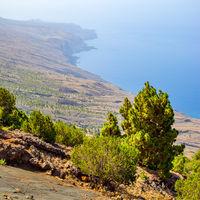 Atlantic ocean and coast of El Hierro Island