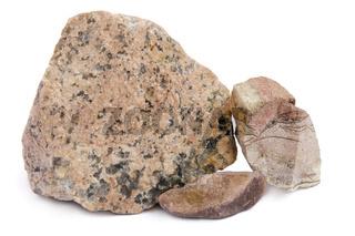 The red granite stones