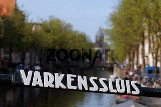 Varkenssluis in Amsterdam