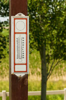 Old time thermometer