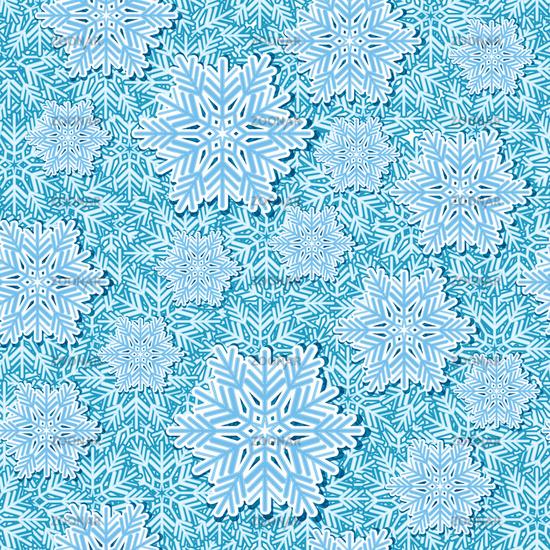 Snowflake pop up seamless vector
