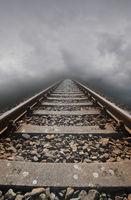 Railway tracks lead nowhere.