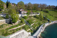 Bear Park and River Aar in Berne, Switzerland