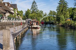 Canal de Savières in Chanaz, Savoie
