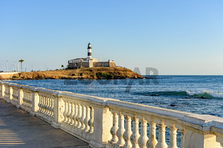 Barra Lighthouse one of the main historical buildings and tourist spot in the city of Salvador