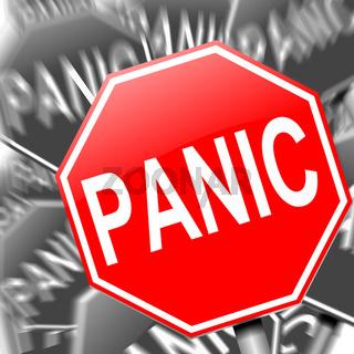 Panic concept.