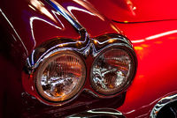 red old-timer front light