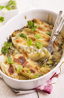 chicory baked with cheese