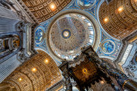 Inside the Saint Peter Basilica
