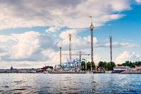 Grona Lund amusement park in Stockholm, Sweden